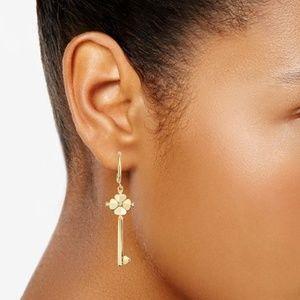 NWT! Kate Spade Key Drop Earrings - Gold Tone